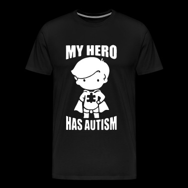 my hero has autism t shirts - Men's Premium T-Shirt