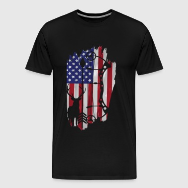 Bow Hunting American Flag Patriot Arrow Gift - Men's Premium T-Shirt