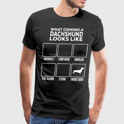 What owning a dachshund looks like doorbell loud b - Men's Premium T-Shirt