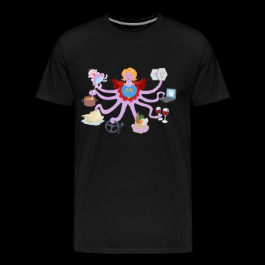 Super mom, Super octopus mom - Men's Premium T-Shirt