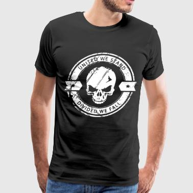 united we stand divided we fall skull - Men's Premium T-Shirt