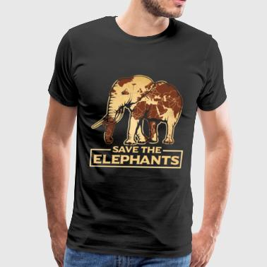 Save the elephants gift animal rights love fight - Men's Premium T-Shirt