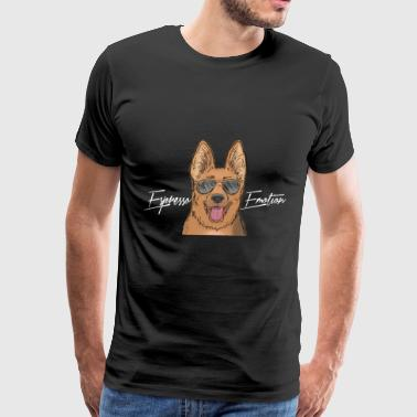 Espresso Emotion x German Shepherd - Men's Premium T-Shirt