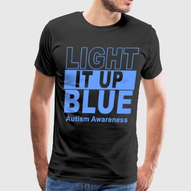 Light it up blue autism awereness - Men's Premium T-Shirt
