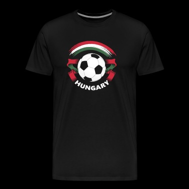 Hungary Football Soccer Fan Flag - Men's Premium T-Shirt