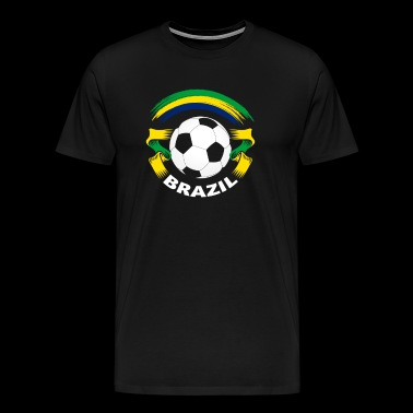 Brazil Football Soccer Fan Flag - Men's Premium T-Shirt
