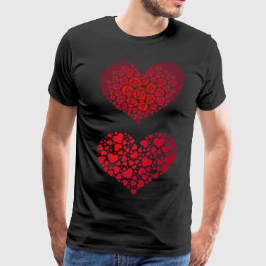 Valentine Hearts - Men's Premium T-Shirt