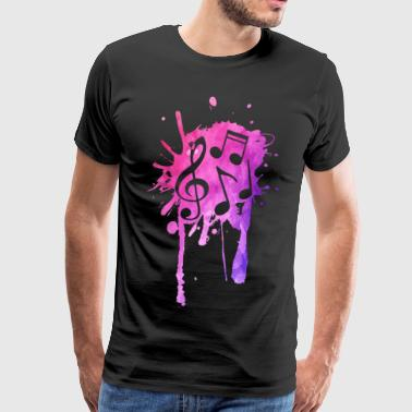 Music splash! - Men's Premium T-Shirt
