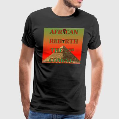 African Rebirth Black Power Afrocentric T Shirt - Men's Premium T-Shirt