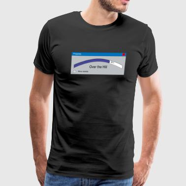 60 Years old over the hill progress bar - Men's Premium T-Shirt
