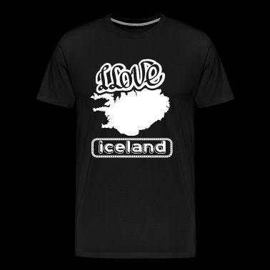 I Love Iceland Shirt - Men's Premium T-Shirt