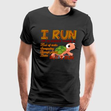 I Run I'm Slower Than Herd Turtles Shirt - Men's Premium T-Shirt