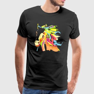 Horse Bold Colorful - Men's Premium T-Shirt