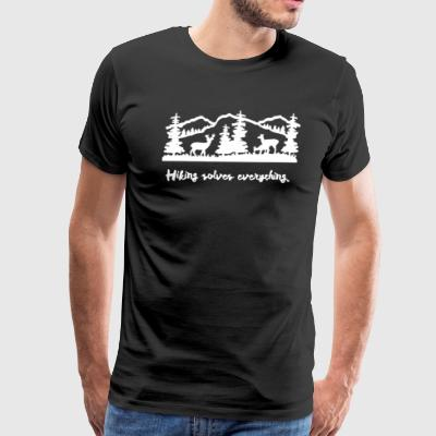 Hiking solves Everything - Men's Premium T-Shirt
