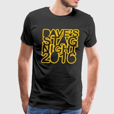 Stag Do Stag Night - Men's Premium T-Shirt