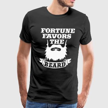 Fortune favors the beard - Men's Premium T-Shirt