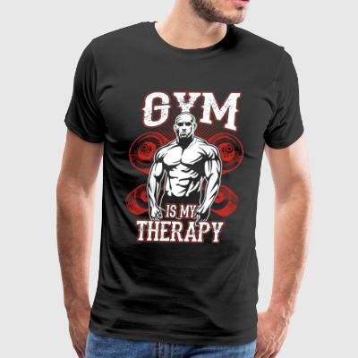 Gym Is My Therapy - Men's Premium T-Shirt