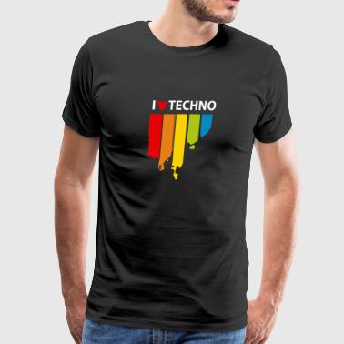 I Love Techno Music - Men's Premium T-Shirt