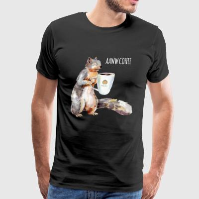 Squirrel Coffee - Men's Premium T-Shirt