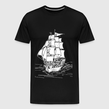 Pirate Ship - Men's Premium T-Shirt
