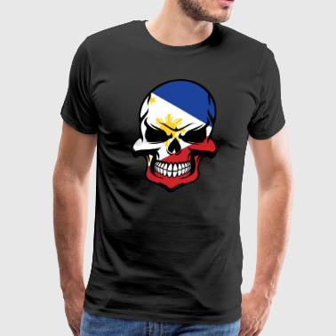 Filipino Flag Skull Cool Philippines Skull - Men's Premium T-Shirt