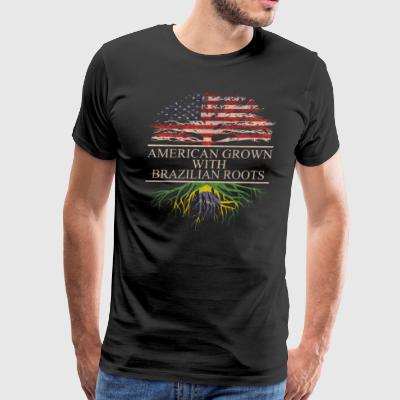American grown with brazilian roots - Men's Premium T-Shirt