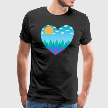 Sunny Mountain Day - Men's Premium T-Shirt
