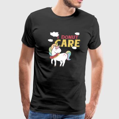 I Donut care Rainbow Unicorn - Men's Premium T-Shirt