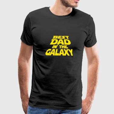 Best Dad In The Galaxy Funny - Men's Premium T-Shirt