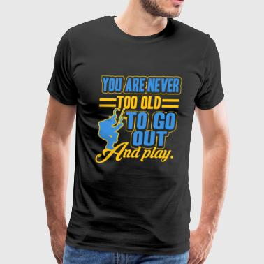 Ice Climbing Go Out And Play Shirt - Men's Premium T-Shirt