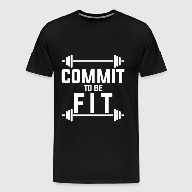 Commit to be fit - Men's Premium T-Shirt