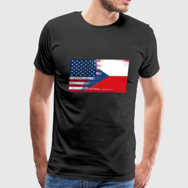 Half Czech Half American 100% Awesome Czech - Men's Premium T-Shirt