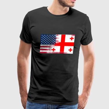 Georgia American Flag Fusion - Men's Premium T-Shirt