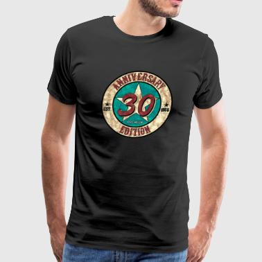 30th Birthday Anniversary gift present Vintage - Men's Premium T-Shirt