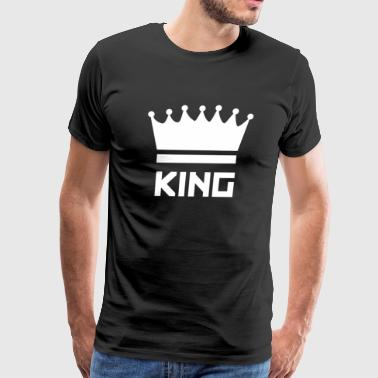 Funny King Crown Symbol - Men's Premium T-Shirt
