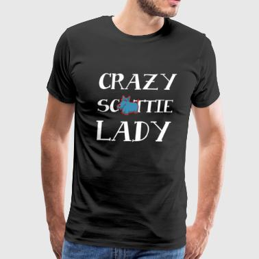 Crazy Scottie Lady Dog - Men's Premium T-Shirt