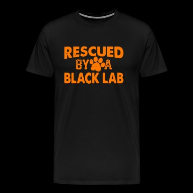 Rescued by a black lab - Men's Premium T-Shirt