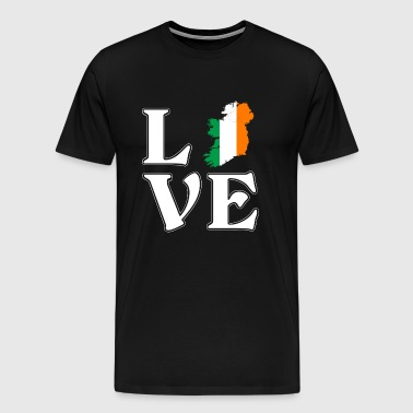I love Ireland - Irish - traveling - Men's Premium T-Shirt