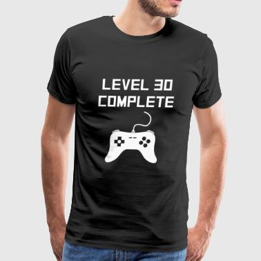 Level 30 Complete Video Games 30th Birthday - Men's Premium T-Shirt