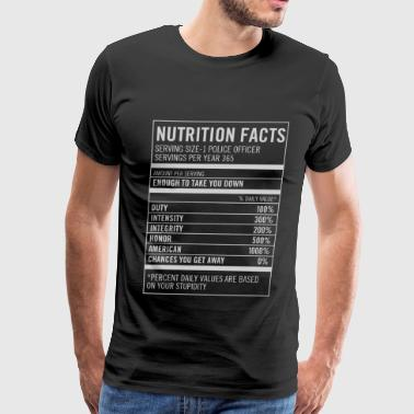 Nutrition facts-Based on your stupidity t-shirt - Men's Premium T-Shirt