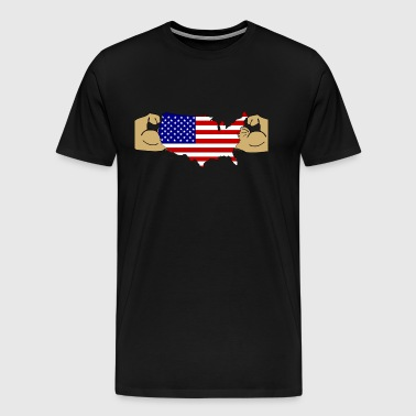 USA Muscle Men  - Men's Premium T-Shirt