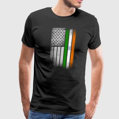 Indian American Flag - Men's Premium T-Shirt