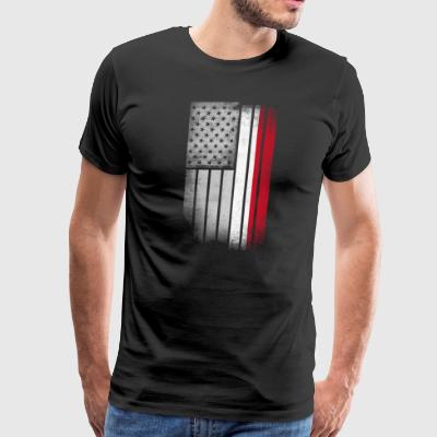 Indonesian American Flag - Men's Premium T-Shirt