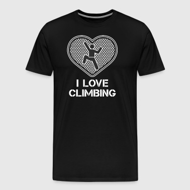 Hike - Hiker - Climbing- Mountain - Hobby - Climb - Men's Premium T-Shirt