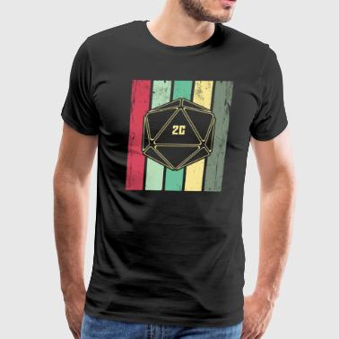 Natural 20 Retro d20 Game Shirt - Men's Premium T-Shirt