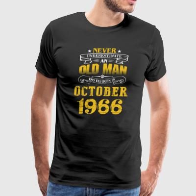 An Old Man Who Was Born In October 1966 - Men's Premium T-Shirt