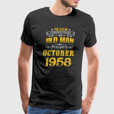 An Old Man Who Was Born In October 1958 - Men's Premium T-Shirt