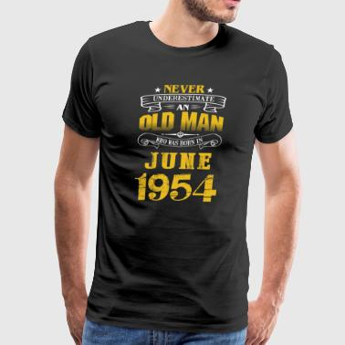 An Old Man Who Was Born In June 1954 - Men's Premium T-Shirt