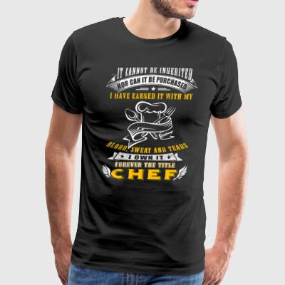 Forever the title Chef T-Shirts - Men's Premium T-Shirt