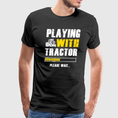 Play with Tractor Farmer T Shirts - Men's Premium T-Shirt